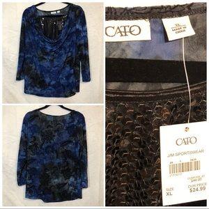 Cato cowl neck top size XL